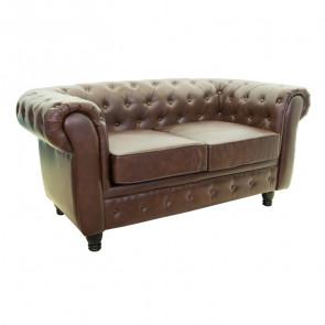 Кожаный диван Chesterfield 2S