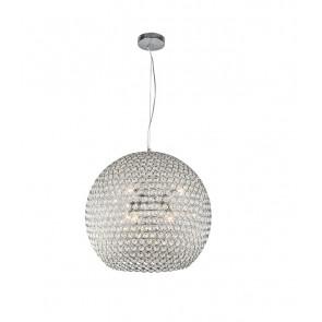 Подвесной светильник Liera изысканна и легка. Плафон изделия украшен хрустальными камнями и имеет объемную круглую форму. Радужные переливы света великолепными бликами распространяются от зажжённого светильника, что несомненно придаст уюта и тепла Вашему интерьеру.</p> Liera 300