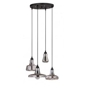 Подвесной светильник Boretto smoke glass round